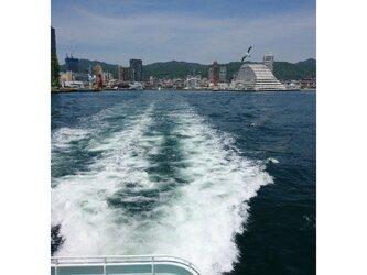 みなと神戸に咲く華 「引き波」 「港のある暮らし」 A3サイズ光沢写真縦  写真のみ  神戸風景写真  港町神戸 送料無料の画像