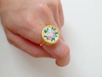 花束のリング3(パステル×ゴールド) せきそ粘土の画像
