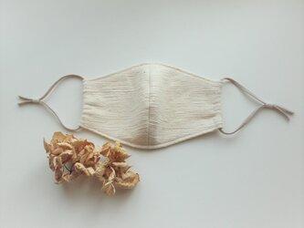 オーガニックコットンの秋冬マスク・アジャスター付き(きなり)の画像