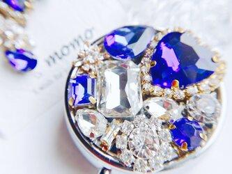 星の降る夜 キラキラ宝石ビジューのコンパクト ピルケース の画像