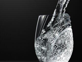 羽衣 - 東京切子(花切子)ワイングラス 「菊つなぎ」の画像