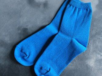 和紙靴下 REGULAR 青空 (BLUE)の画像