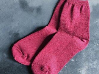和紙靴下 REGULAR 紅色 (RED)の画像