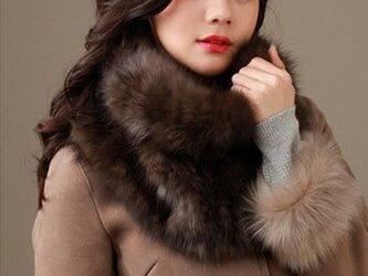 ¶ new antique fur ¶ ロシアンセーブル編み込みゆったりスヌードの画像