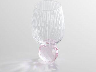 キラキラ東京切子 ぐい吞み 花火 ピンクの画像
