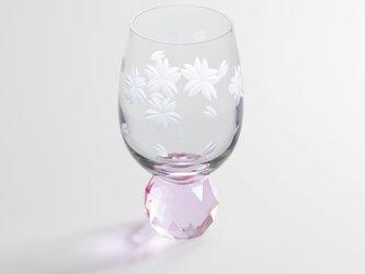 キラキラ東京切子 ぐい吞み 桜 ピンクの画像