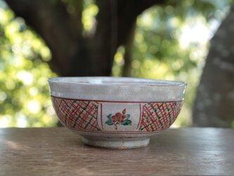 椿の赤絵の福鉢②の画像