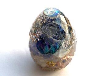 希少オリハルコン入り クロス カット卵型 浄化 エンジェル ヒーリング 幸運メモリーオイル ケオン オルゴの画像