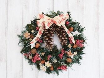 ストローブ松のクリスマスリース(送料込み/定形外郵便のみ)の画像