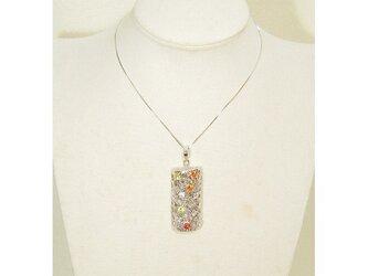 再生ダイヤモンドとキュービックジルコニア、SV925のトップ(ロジウムメッキ、トップのみの販売です)の画像