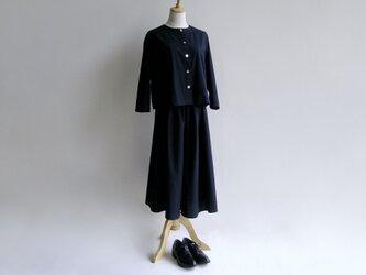 久留米紬織のツーピース(紺)【送料無料】の画像
