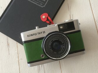 オリンパスTRIP35  若草色のルガトショルダーに張り替えましたの画像
