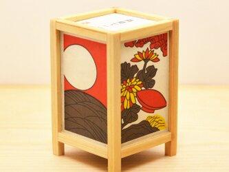 ミニ行灯 「月見に一杯」 花札の画像