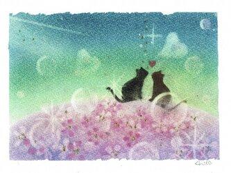 2枚組「ほんわか 幸せ」原画の画像