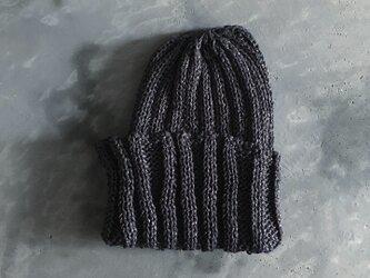 和紙帽子 ブラックの画像