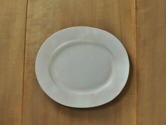 楕円リム9寸皿/白の画像