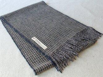 ホームスパン・カシミヤマフラー  模様織りの画像