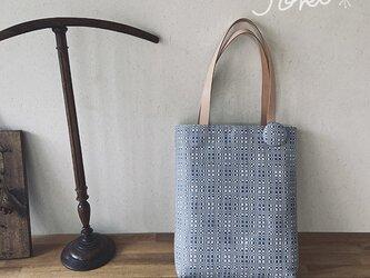 bag[手織り手提げバッグ]ライトブルーの画像