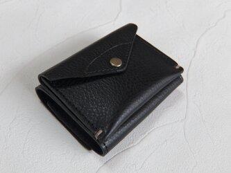 【受注生産】コンパクトな3つ折り財布 Blackの画像