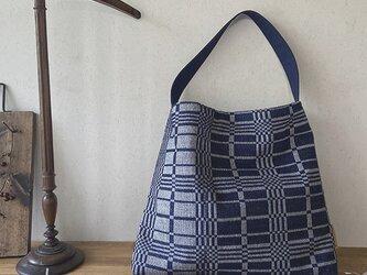 bag[手織りワンショルバッグ]ダーネイビーの画像