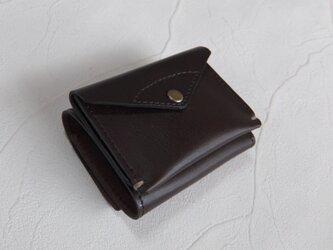 【受注生産】コンパクトな3つ折り財布 Dark Brownの画像
