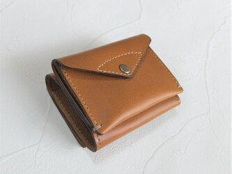 【受注生産】コンパクトな3つ折り財布 Camelの画像