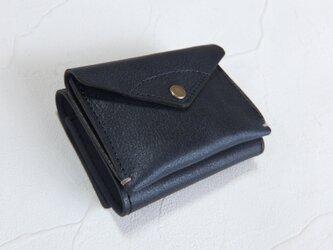 【受注生産】コンパクトな3つ折り財布 Dark Navyの画像