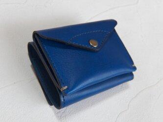 【受注生産】コンパクトな3つ折り財布 Blueの画像