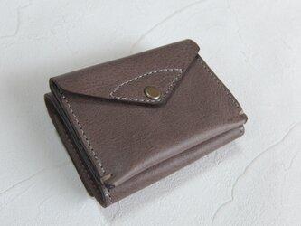 【受注生産】コンパクトな3つ折り財布 Grayの画像