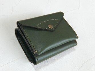 【受注生産】コンパクトな3つ折り財布 Greenの画像