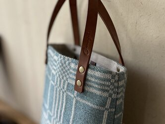 bag[手織りAライン手提げバッグ]エメラルドの画像