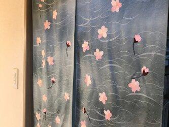 ヴィンテージ着物から桜 間仕切り 一足早く初春にの画像