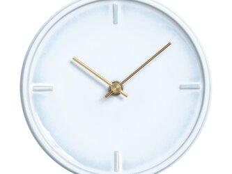 陶器の壁掛け時計*GLAZED CLOCK Z-01(乳白釉)の画像