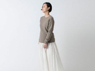 【再入荷】enrica cashmere&wool knit / brownの画像