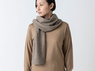 enrica cashmere&wool muffler / brownの画像