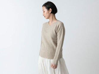 【2021年9月お届け】enrica cashmere knit 063 / beigeの画像