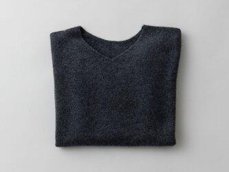 【2021年9月お届け】enrica cashmere knit 063 / chacoalの画像