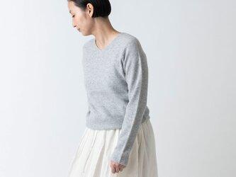 【2021年9月お届け】enrica cashmere knit 063 / greyの画像