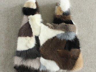 ¶ new antique fur ¶ エコバッグ型ミックスミンクファーバッグの画像
