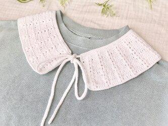 コットン糸のふんわり付け襟/パフの画像