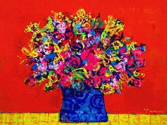 「FLOWER」(NO.2033) 6号F 送料無料 額付きの画像