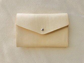 小銭が探しやすい 革のミニ財布 イタリア製レザー Small Basic Walletの画像