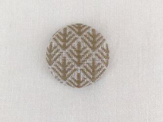こぎん刺しのブローチ〈松笠〉3.8cmの画像