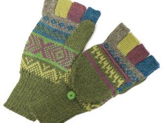 アルパカ ミトン手袋GU AU972Bの画像