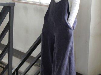 大人サロペットパンツ*belgian-linen25/全15色【受注生産】の画像