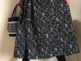 綿100% 裏地付き リボンベルト あなたサイズのギャザースカートの画像