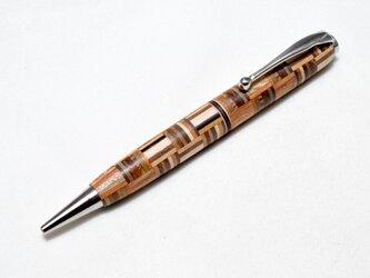 【寄木】手作り木製ボールペン スリムライン CROSS替芯の画像