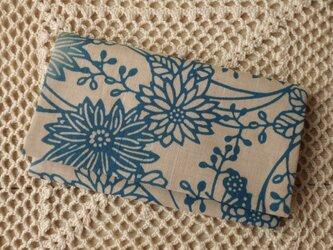 和布の懐紙入れ・花と蝶の画像