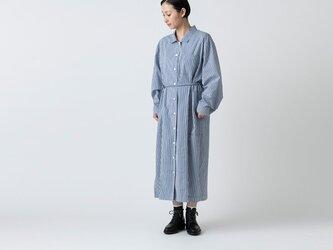 木間服装製作 / longshirt stripe / unisex 1size / ロングシャツ・シャツワンピースの画像