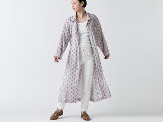 木間服装製作 / longshirt flower lightpurple / unisex 1size / ロングシャツの画像